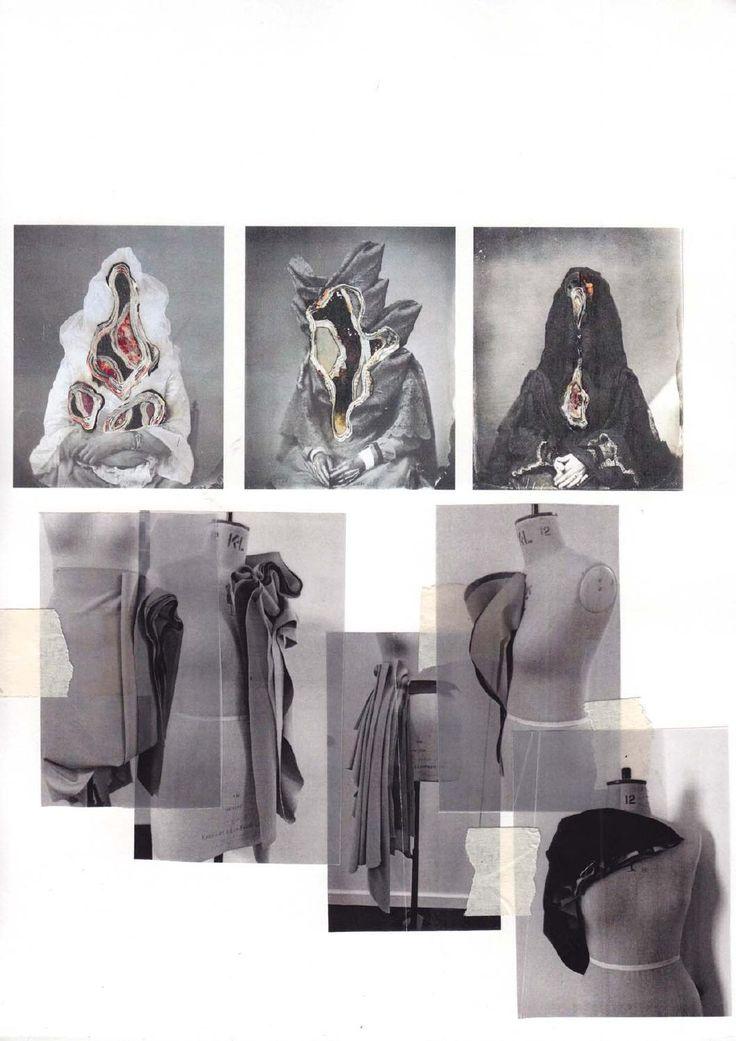 Fashion Sketchbook - fashion design creative process; draping development; fashion portfolio // Valeska Collado