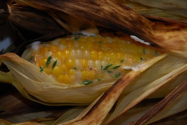 Yummy! Grilled Corn on the Cob Recipe, with Lemon Thyme Butter