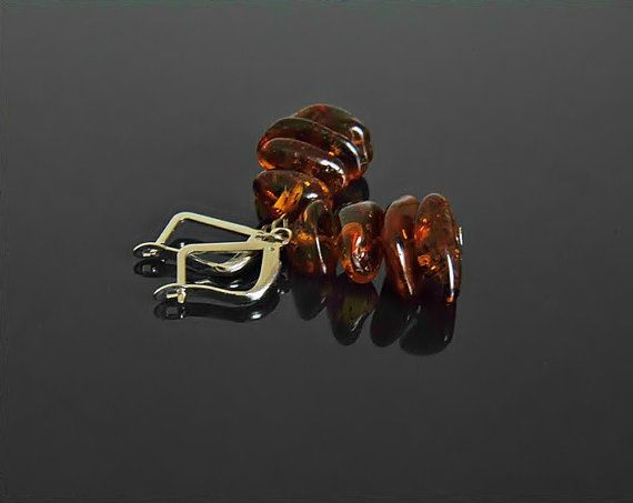 Baltic amber earrings amber jewelry amber earrings by styledonna