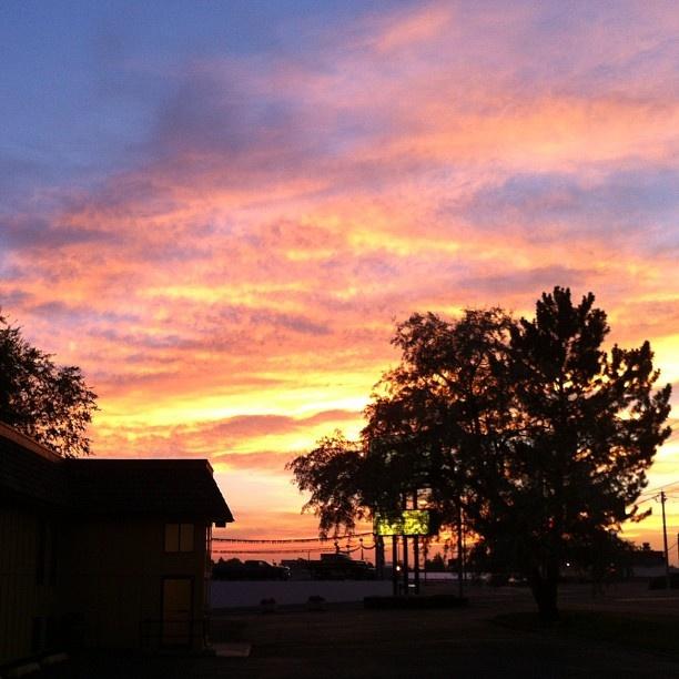Sunset over Idaho Falls, ID