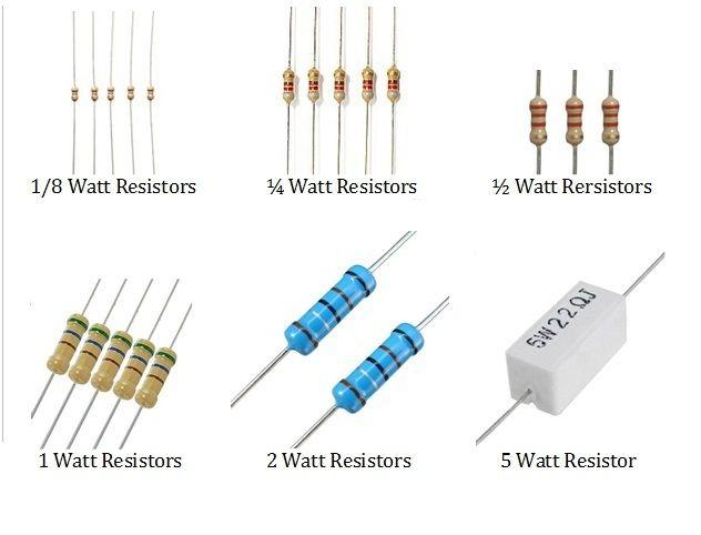 Resistor Wattage Simple Electronics Resistors Electronic Circuit Design