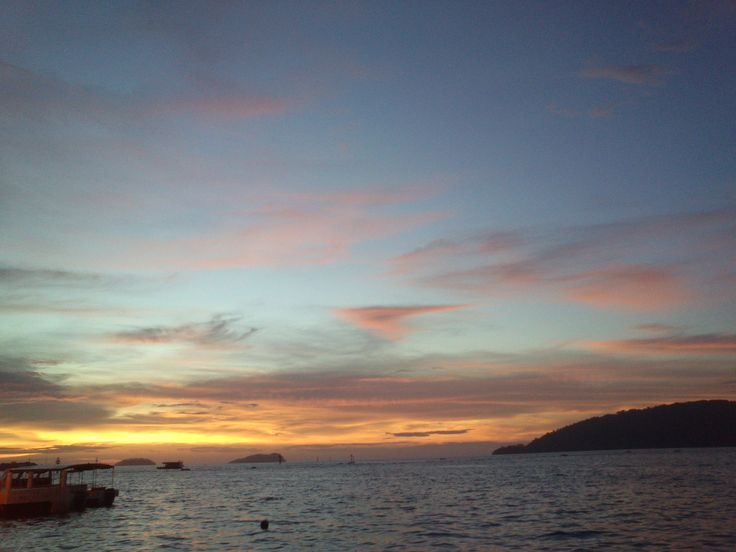 Sunset at Kota Kinabalu's Jesselton Port. Situation at the city center itself, it is the exit to 4 exotic island only 10-15 mins boat ride away