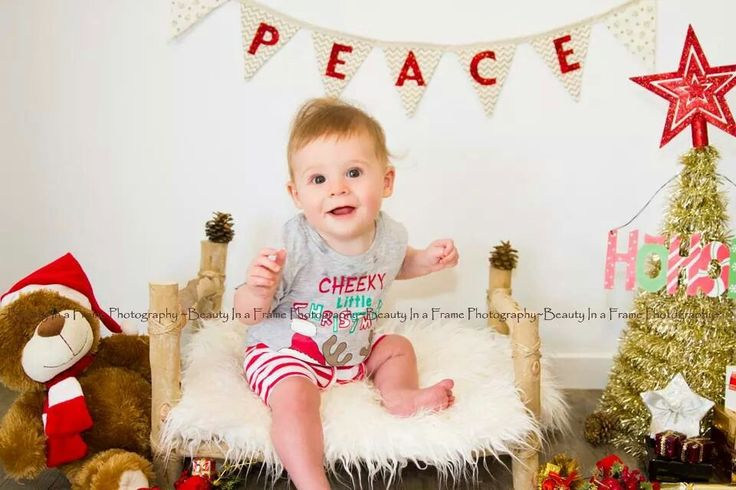 Photo from nephew's first Christmas shoot.