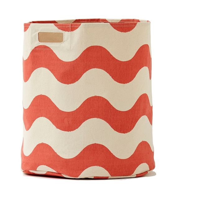 Coral Wave Hamper - perfect pop of color in a nursery or kids room! #PNshop: Interior, Coral Wave, Color, Wave Hamper, Waves, Coral Nursery, Products, Hampers, Kids Rooms