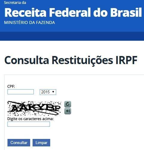 CONSULTA IMPOSTO DE RENDA 2016