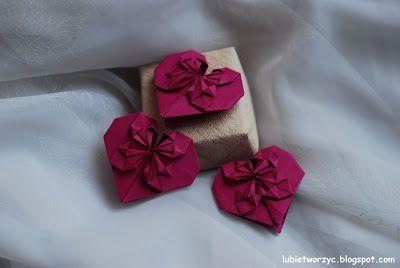 Serce origami   #lubietworzyc #DIY #handmade #howto #instruction #instrukcja #jakzrobic #krokpokroku #origamicraft #origami #serceorigami #serce #heart #origamiheart #walentynki #valentine'sday