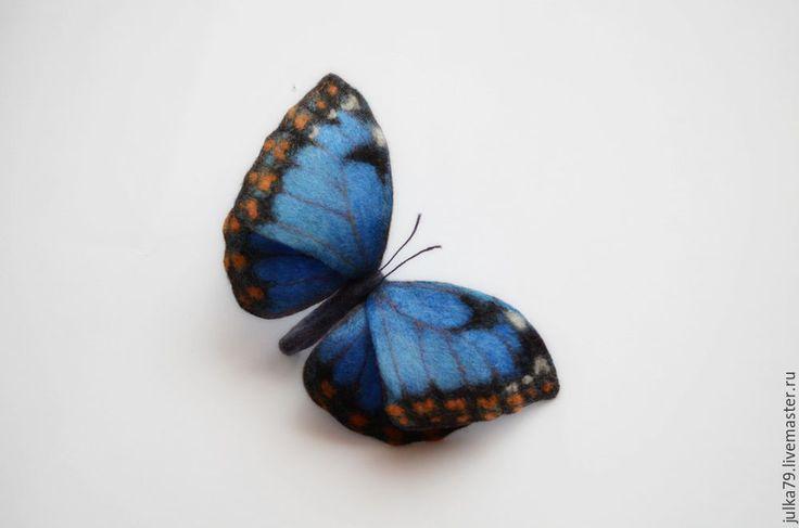 Купить Бабочка4 - синий, бабочка, брошь бабочка, бабочки, украшение, брошь, брошь на заказ, броши