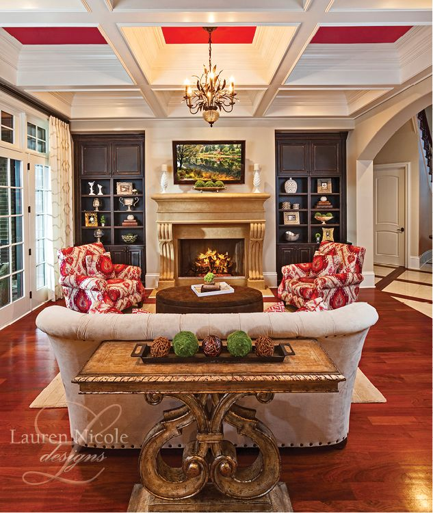 Bright colors are the way to go in this awesome family room lauren nicole designs
