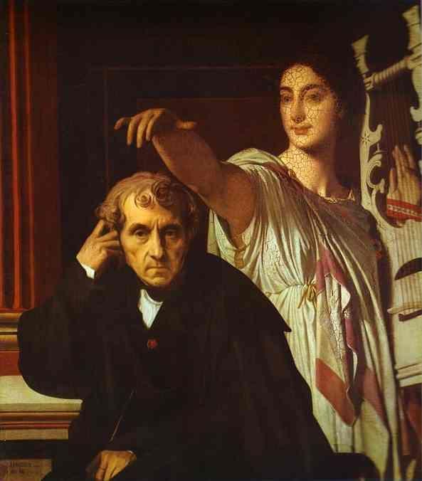 Luigi Cherubini and the Muse of Lyric Poetry - Jean Auguste Dominique Ingres
