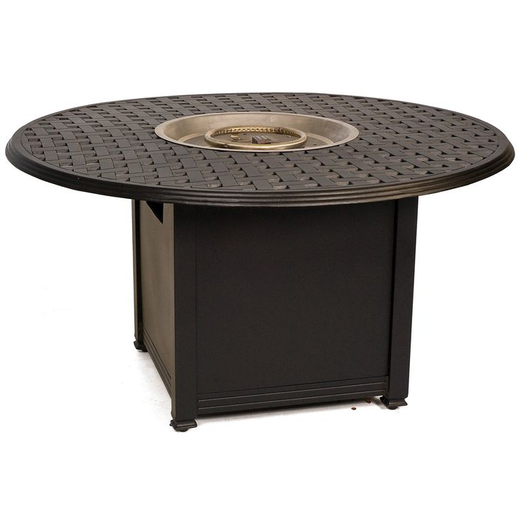 Woodard Thatch Aluminum 48 in. Round Fire Pit Table   from hayneedle.com