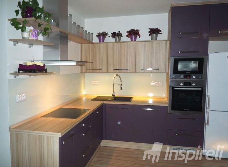 Kuchyně - fialová/kokos bolo
