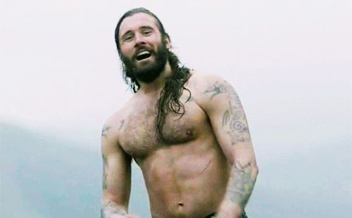 Pin for Later: 21 GIFs That Prove Vikings Is the Sexiest Show You're Not Watching  Hellooooo, Rollo!