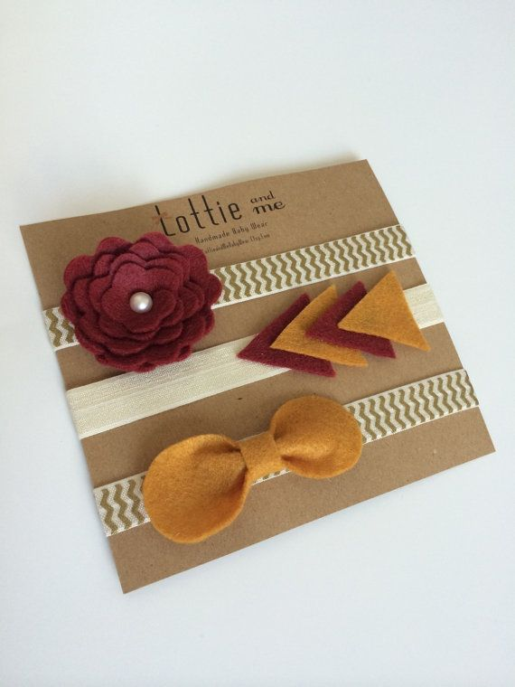 FSU Florida State Seminoles Baby Girl Headbands!!  Love these!  Finally, some simple ones that aren't obnoxious!  @magrae3