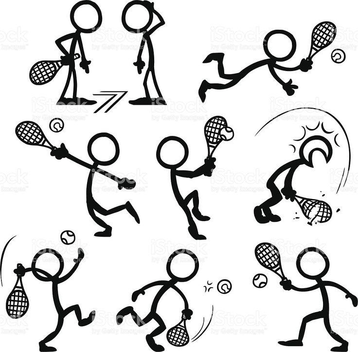 Stick Figura personas de tenis illustracion libre de derechos libre de derechos