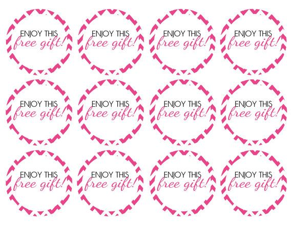 DIY Printable Direct Sales Pink Chevron Free Gift Stickers