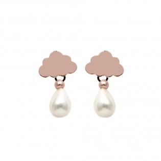 White Could Küpe  #tarz #original #interesting #tasarım #moda #tasarımcı #design #style #fashion #white #cloud #cloudy #ear #earring #drop #bulut #küpe #beyaz #pearl #stylish #chic