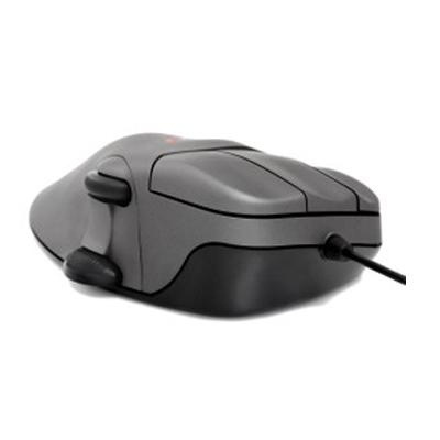 Contour Design Contour Mouse Optical USB Gunmetal Grey With Scroll Wheel. Reduces or eliminates the grip force required to navigate and click traditional mice. This ergonomically sculpted mouse is designed to support your hand comfortably without the need to clutch the mouse to control it. Four right hand sizes and three left hand sizes properly fit your hand so you are not trying to navigate a mouse that is too small for your hand.