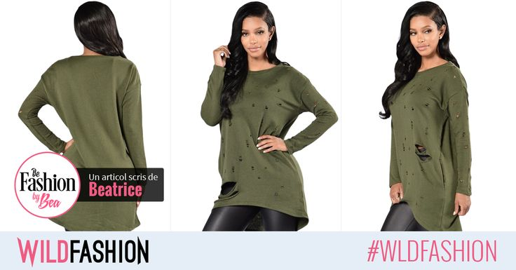 Iarna va fi mai putin geroasa cu acesta bluza tinereasca #wildfashion. Like & hai la shopping!