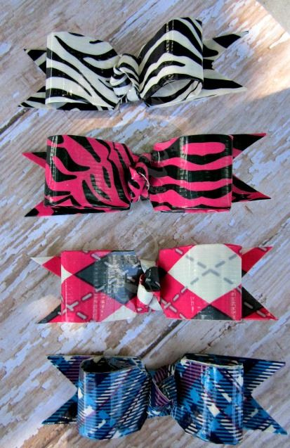 Duct Tape Tuxedo Hair Bows by msjcreations, via Flickr