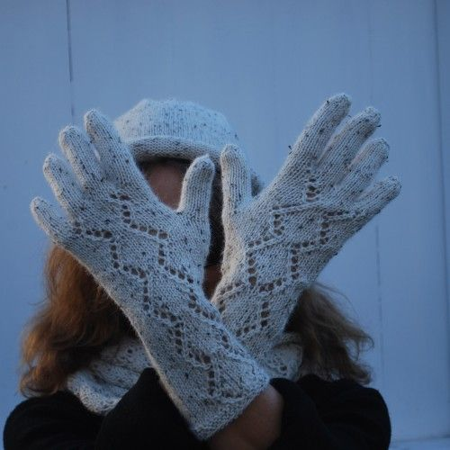 Pattern number 57. Knitted Hat, Cowl and Gloves