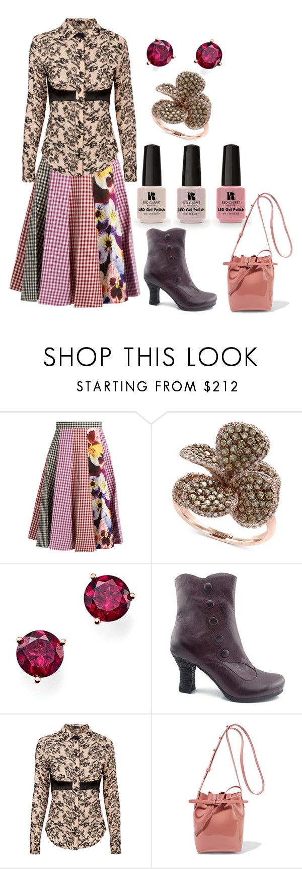 """""""Untitled #6506"""" by pampire ❤ liked on Polyvore featuring Victoria's Secret, Christopher Kane, Effy Jewelry, Bloomingdale's, Miz Mooz, La Perla and Mansur Gavriel"""