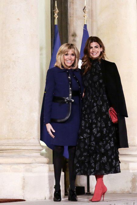 Juliana Awada with Brigitte Macron