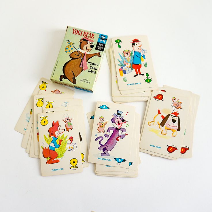 Vintage 1960s Childrens Card Game / Edu-Cards Yogi Bear Rummy Game 1961 Complete by AttysSproutVintage on Etsy