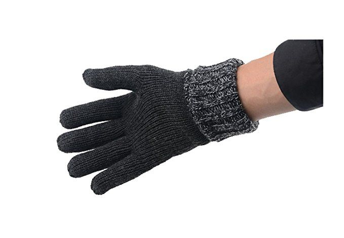 CYZ Men's Knit Thinsulate Gloves grey LXL at Amazon Men's Clothing store:
