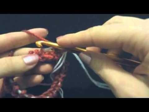 Нукинг (техника вязания крючком). Круговое вязание