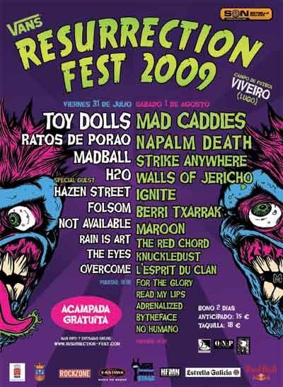 Resurrection Fest 2009, Spain