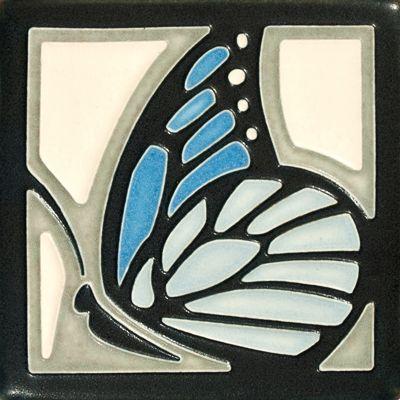 Light Blue Butterfly Tile, Motawi Tileworks