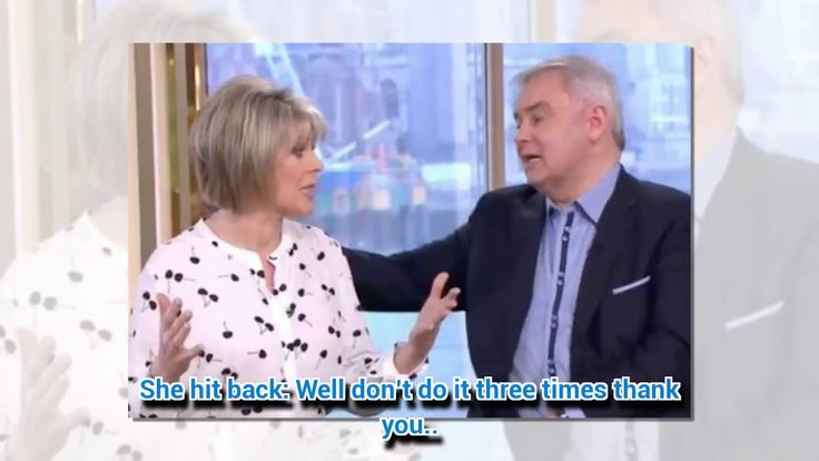 This Morning's Eamonn attempts first aid on Ruth  though it doesn't go to plan