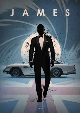 "DB5 James Bond By Eden Design     Collection: Car Legends Gallery quality print on thick 17,7"" / 12,6"" metal plate. Each Displate print verified by the Production Master. Signature and hologram added to the back of each plate for added authenticity & collectors value. Magnetic mounting system included."
