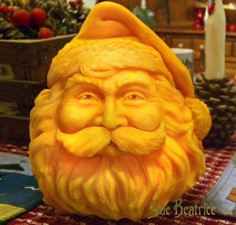 Santa Pumpkin Carving