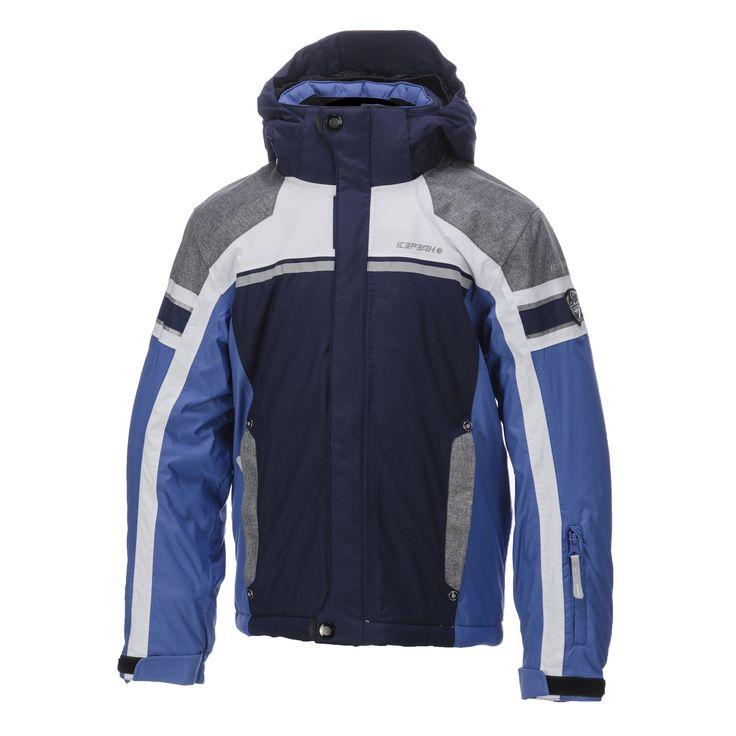 Icepeak, Nate JR ski-jas kinderen, Blauw-Grijs-Optisch wit