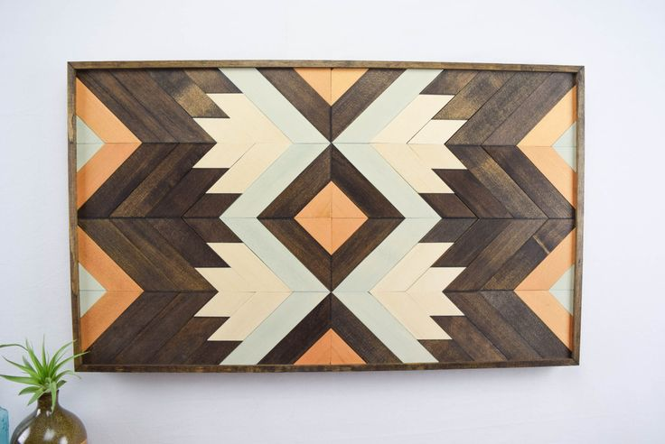 Wood Wall Art Abstract Wood Wall Hanging Midcentury Modern Home Decor Large Wood