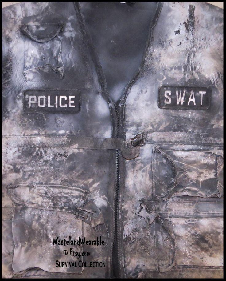 Apocalyptic Vest POLICE SWAT VEST Post Apocalyptic Vest Wastelander Vest Apocalypse Apparel by WastelandWearable by WastelandWearable on Etsy