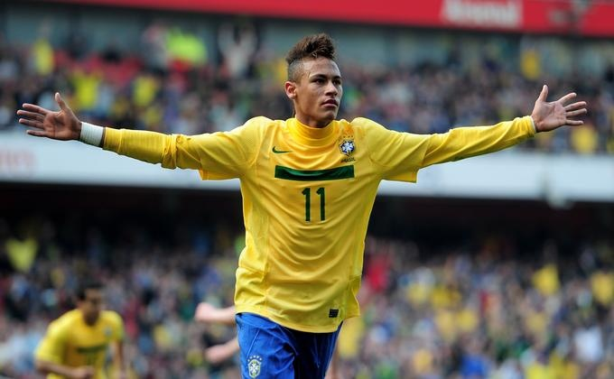 The Brazilian wonderkid Neymar da Silva Santos Junior - Forward for FC Barcelona and Santos FC and the Brazilian national football team