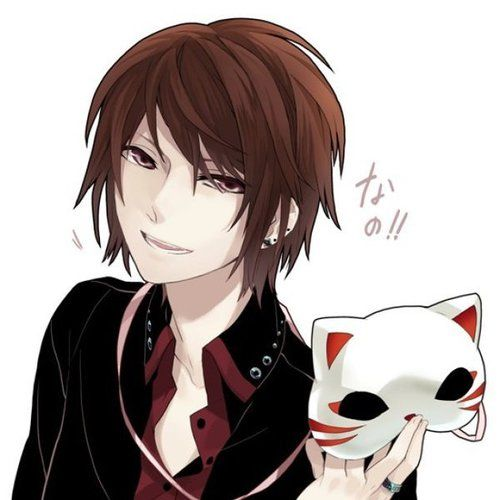 Mask,Boy,brown hair,grey eyes,anime   Anime Boy Mask ... Anime Boy With Brown Hair And Brown Eyes