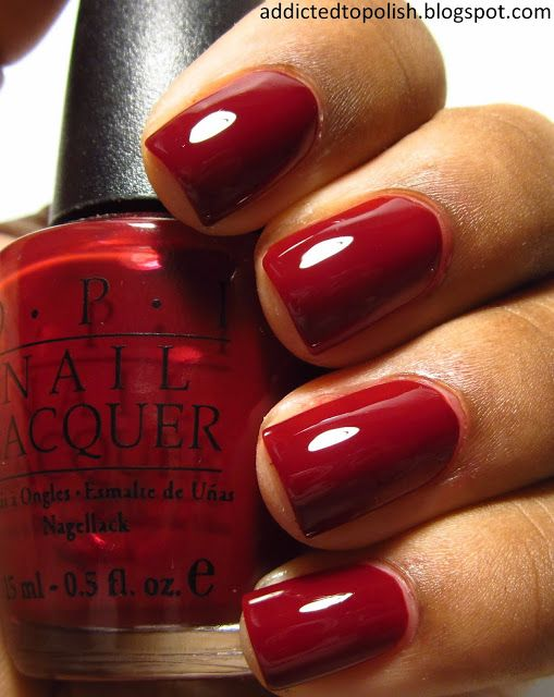 OPI Malaga Wine..another one of my favorite reds..