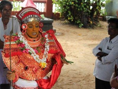 The Theyyam's Blessing, Tellicherry, Kerala, India
