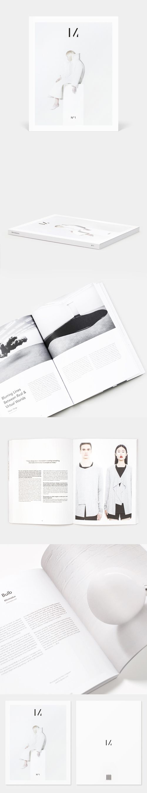 Minimalissimo Issue Nº1: a magazine that celebrates the best of minimalism in design.