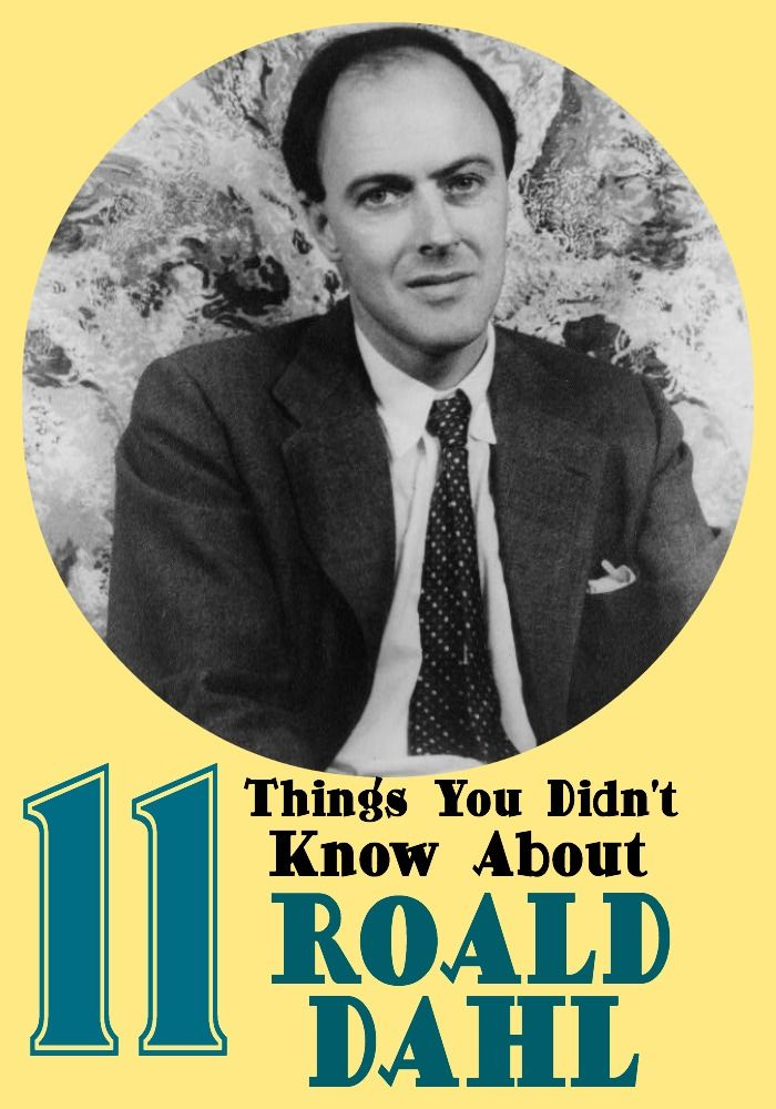 11 Things You Didn't Know About Roald Dahl from Disney to being a flying ace. Read all about it here!