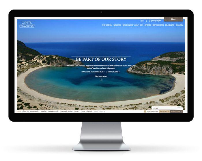 Costa Navarino released a brand-new online presence created by Mozaik. www.mozaik.com