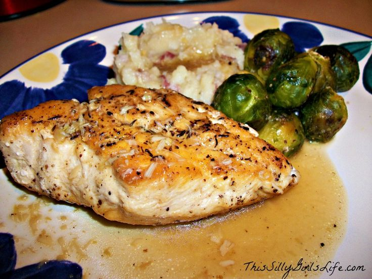 So easy yet so fancy! Thyme Seared Chicken with Roasted Garlic Jus ...