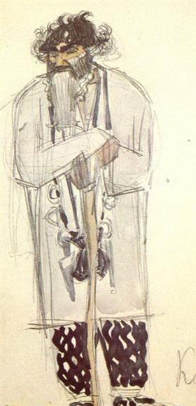 """Kudma, de tovenaar (van het kostuum voor de opera """"The Enchantress"""") - Mikhail Vrubel"""