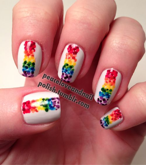 Pride Nail Designs: GAY PRIDE NAIL ART Images On Pinterest