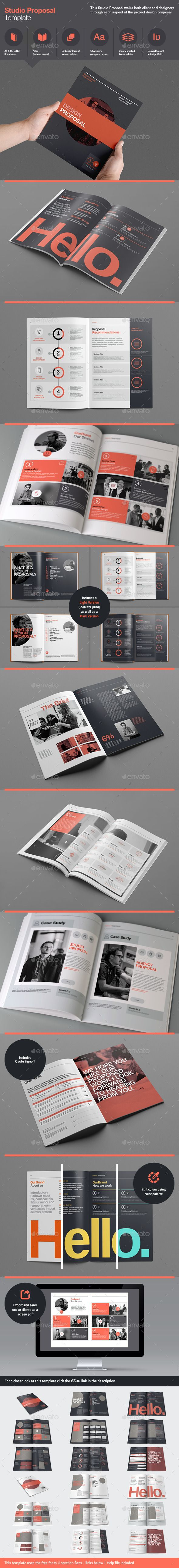 Studio Proposal Template, editorial design by RW Design Studio, via GraphicRiver.