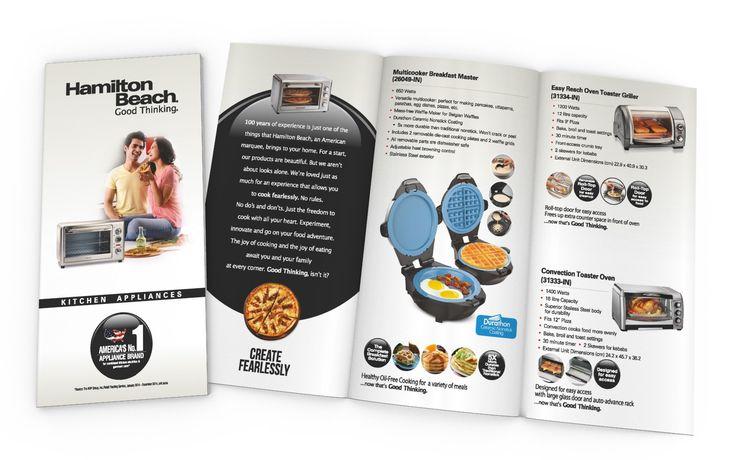 Product Catalog (Piano Fold) Design for HAMILTON BEACH BRANDS (USA)