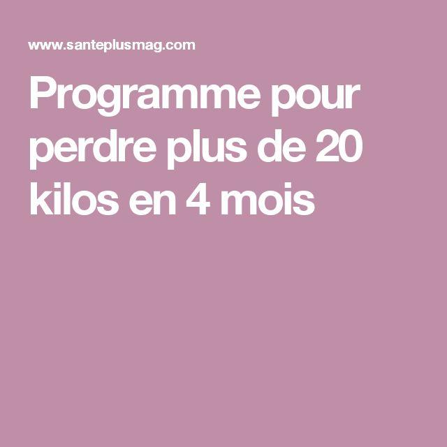 Programme pour perdre plus de 20 kilos en 4 mois